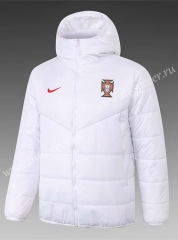 2020-2021 Portugal White Thailand Soccer Coat With Hat-815