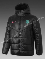 2020-2021 Barcelona Black Thailand Soccer Coat With Hat-815