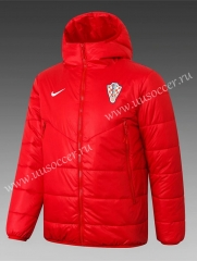 2020-2021 Croatia Red Thailand Coat With Hat-815