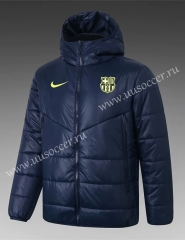 2020-2021 Barcelona Blue Thailand Soccer Coat With Hat-815