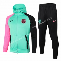 2020-2021 Barcelona Green Thailand Soccer Jacket Uniform With Hat-815