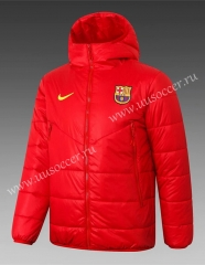 2020-2021 Barcelona Red Thailand Soccer Coat With Hat-815
