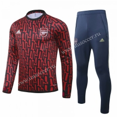 2020-2021 Arsenal Dark Red Thailand Soccer Tracksuit Uniform-GDP
