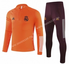 Champions League 2020-2021 Real Madrid Orange Thailand Tracksuit Uniform-GDP