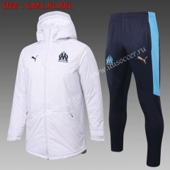 2020-2021 Olympique Marseille White Thailand Soccer Coat Uniform With Hat-815