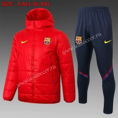 2020-2021 Barcelona Red Thailand Soccer Coat Uniform With Hat-815