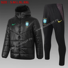 2020-2021 Brazil Black Thailand Coat Uniform With Hat-815