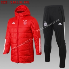 2020-2021 Ajax Red Thailand Soccer Coat Uniform With Hat-815