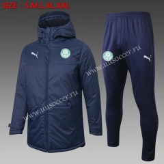2020-2021 SE Palmeiras Royal Blue Thailand Soccer Coat Unifrom With Hat-815