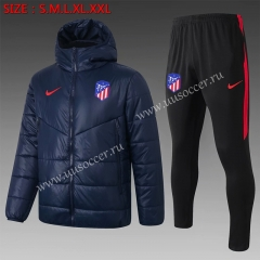 2020-2021 Atletico Madrid Royal Blue Thailand Soccer Coat Uniform With Hat-815