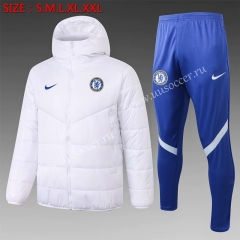 2020-2021 Chelsea White Thailand Soccer Cotton Uniform With Hat-815
