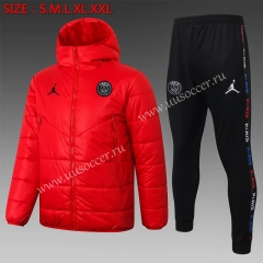 2020-2021 Paris SG Red Thailand Soccer Coat Uniform With Hat-815