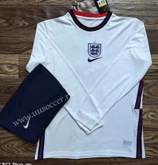 2020-2021 England Home White LS Soccer Uniform-709