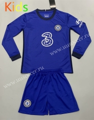 2020-2021 Chelsea Home Blue LS Kid/Youth Soccer Uniform-QY