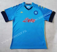 Europa League 2020-2021 Napoli Home Blue Thailand Soccer Jersey AAA-709