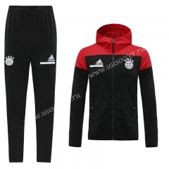2020-2021 Bayern München Black Soccer Jacket Uniform With Hat-LH