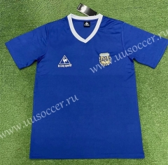 1986 Retro Version Argentina  Away Blue Thailand Soccer Jersey AAA-403