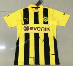 12-13 Retro Version Borussia Dortmund Home Yellow Thailand Soccer Jersey AAA-HR