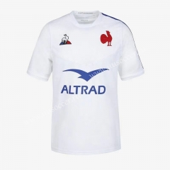 2020-2021 France Away White Rugby Jersey