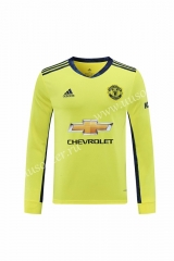 2020-2021 Manchester United Goalkeeper Yellow Thailand LS Soccer Jersey AAA-418