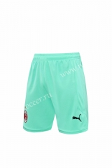 2020-2021 AC Milan Goalkeeper Light Green Thailand Soccer Shorts-418