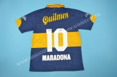 1981 Retro Version Boca Juniors Blue #10 (MARADONA) Thailnad Soccer Jersey-SL