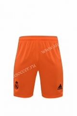 2020-2021 Real Madrid Goalkeeper Orange Thailand Soccer Shorts-418
