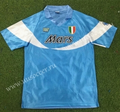 90-91 Retro Special Version Napoli Home Blue Thailand Soccer Jersey AAA-503