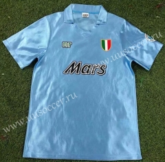 90-91 Retro Version Napoli Home Blue Thailand Soccer Jersey AAA-503