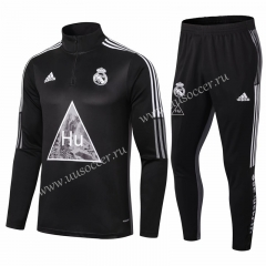 Joint Edition 2020-2021 Real Madrid Black Thailand Tracksuit Uniform-411
