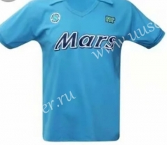 89-90 Retro Special Version Napoli Home Blue Thailand Soccer Jersey AAA-503