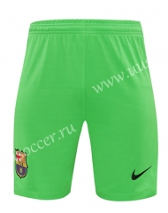 2020-2021 Barcelona Goalkeeper Green Thailand Soccer Shorts-418