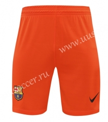2020-2021 Barcelona Goalkeeper Orange Thailand Soccer Shorts-418
