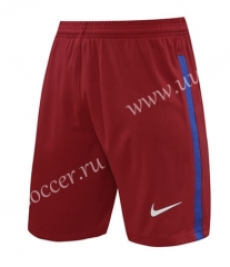 2020-2021 Barcelona Goalkeeper Dark Red Thailand Soccer Shorts-418
