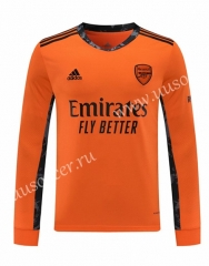 2020-2021 Arsenal Goalkeeper Orange LS Thailand Soccer Jersey AAA-418