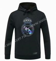 2020-2021 Real Madrid Black Thailand Tracksuit Top With Hat-CS