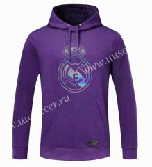2020-2021 Real Madrid Purple Thailand Tracksuit Top With Hat-CS