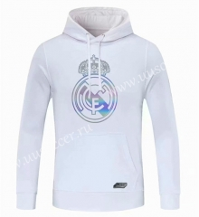 2020-2021 Real Madrid White Thailand Tracksuit Top With Hat-CS
