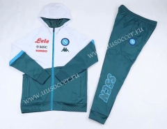 2020-2021 Napoli Light Green Thailand Soccer Jacket Uniform With Hat-CS