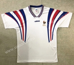 1996 Retro version France Away White Thailand Soccer Jersey AAA-HR
