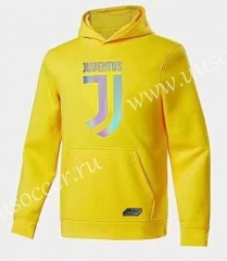 2020-2021 Juventus Yellow Thailand Tracksuit Top With Hat-CS