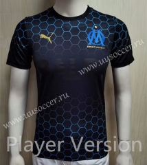 Player Joint Edition 2020-2021 Olympique de Marseille Black Thailand Soccer Jersey AAA-807