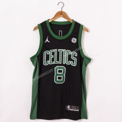 2020-2021 City Version NBA Boston Celtics Black #8 Jersey