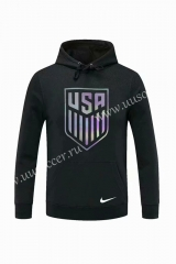 2020-2021 USA Black Thailand Soccer Tracksuit With Hat