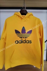 2020-2021 Addi Yellow Thailand Soccer Tracksuit With Hat-12