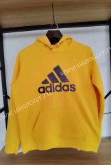 2020-2021 Addi Yellow Thailand Soccer Tracksuit With Hat-16