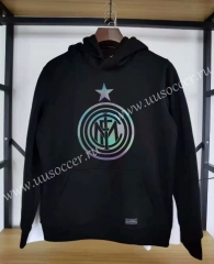2020-2021 Inter Milan Black Thailand Soccer Tracksuit Top With Hat