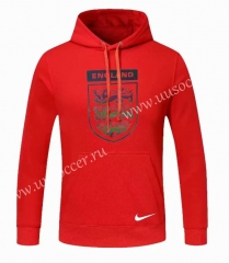 2020-2021 England Red Thailand Soccer Tracksuit Top With Hat
