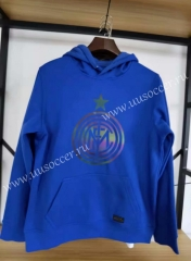 2020-2021 Inter Milan Blue Thailand Soccer Tracksuit Top With Hat