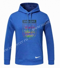 2020-2021 England Blue Thailand Soccer Tracksuit Top With Hat